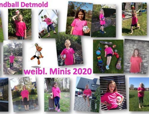 Mini-Mädchen freuen sich über T-Shirts